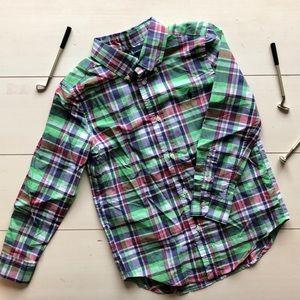 NWOT!! Ralph Lauren Preppy Plaid Oxford Shirt